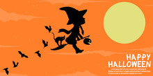 A Little Witch Is Flying On The Sky