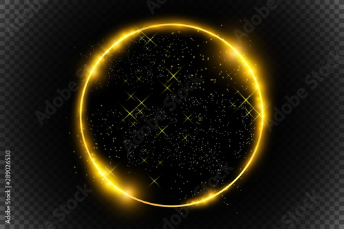 Fototapeta Golden light frames and design elements. Beautiful frames. Light banners. obraz na płótnie
