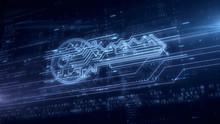 Cyber Key Symbol Hologram