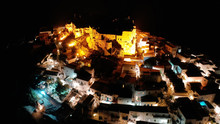 Aerial Drone Night Shot Of Ico...