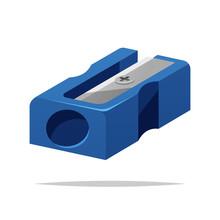 Pencil Sharpener Vector Isolat...