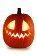 canvas print picture Halloween Pumpkin isolated on white