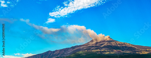 Fotografie, Obraz  Overview of Mount Etna in Sicily during an eruption