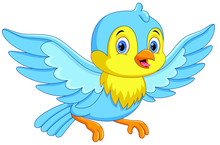 Cute Cartoon Little Birds Fly ...