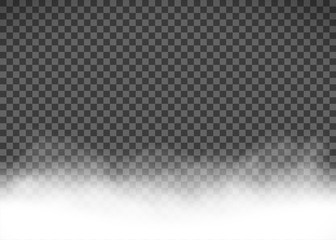 White smoke or fog isolated on a transparent background