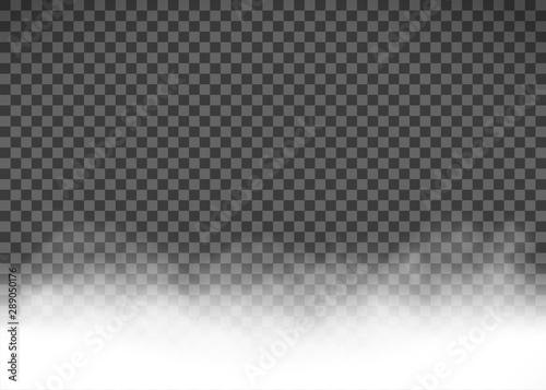 Fototapeta White smoke or fog isolated on a transparent background obraz