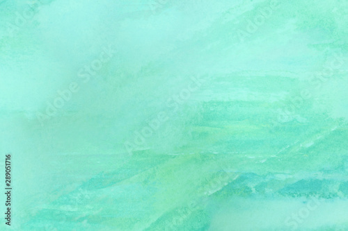 Carta da parati  neo mint - trend color 2020 - watercolors on textured paper surface