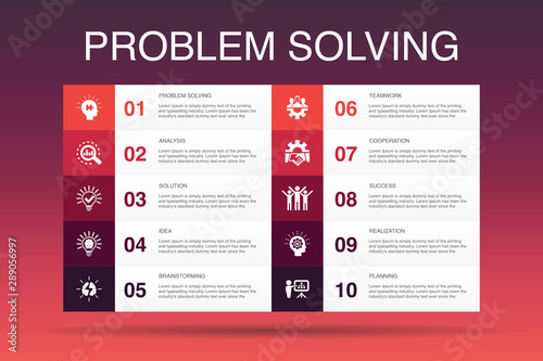 Fotomural  problem solving Infographic 10 option template