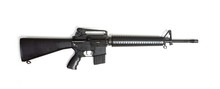 Black Rifle Machine Gun Isolated On White Background