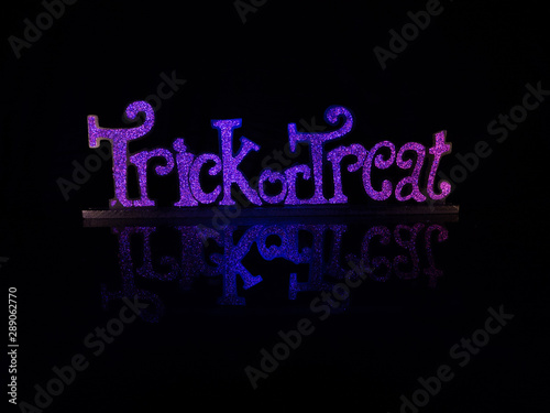 Trick or Treat Sign with Reflective Surface