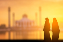 Silhouette Of Muslim Women's S...