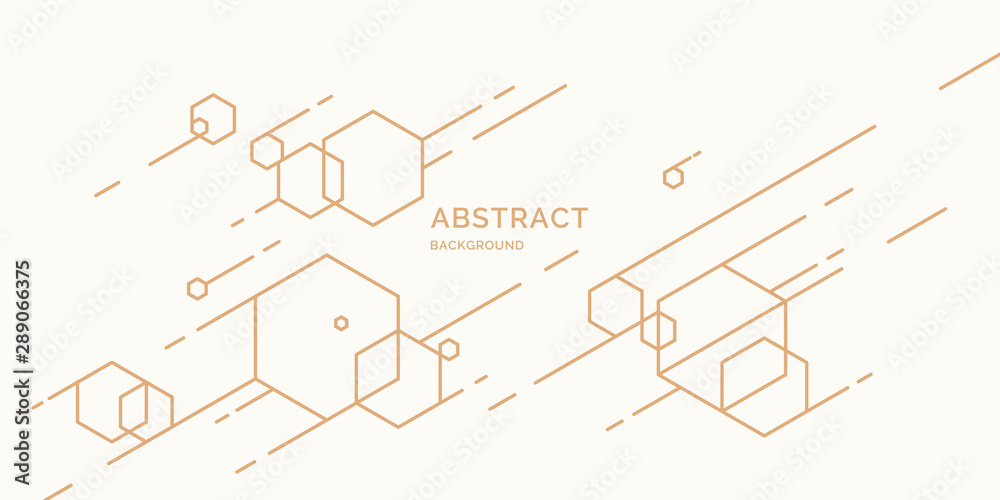 Abstract background with dynamic shapes. Vector template