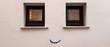 Kleine Fenster Wand Lächeln Lachend