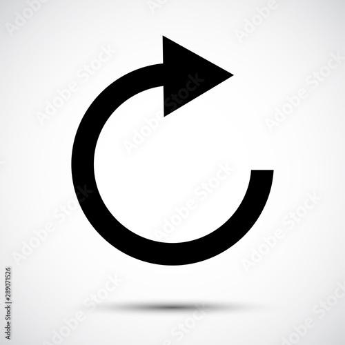 Fotografie, Obraz  Refresh Icon Symbol Sign Isolate on White Background,Vector Illustration EPS