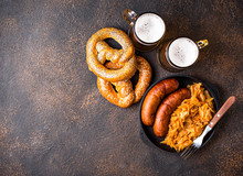 Beer, Pretzels And Bavarian Food