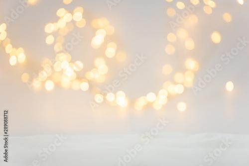 Pinturas sobre lienzo  Christmas background with defocused lights