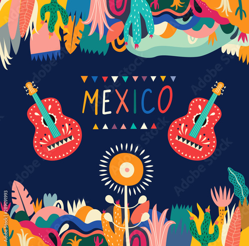 Mexico vector illustration Fotobehang