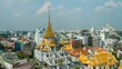 time lapse of Wat traimitr withayaram temple in Bangkok, Thailand