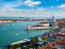 View Of Venice Lagoon And Sant...
