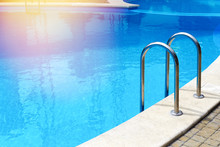 Modern Pool With Handrails