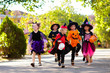 canvas print picture Kids trick or treat. Halloween fun for children.