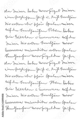 Handwritten letter text Handwriting Calligraphy texture background Canvas Print