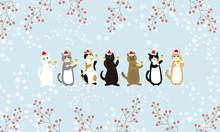 猫が奏でるクリスマスミュージック ハンドベルが響く