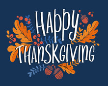 Happy Thanksgiving Day Backgro...
