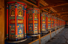 Prayer Wheels Xiahe, Gannan Au...