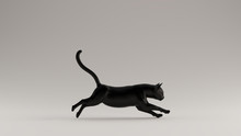 Black Cat Running Pose 3d