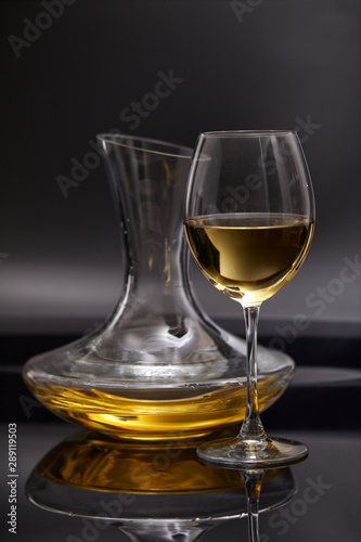 A glass full of wine and wine decanters Wallpaper Mural