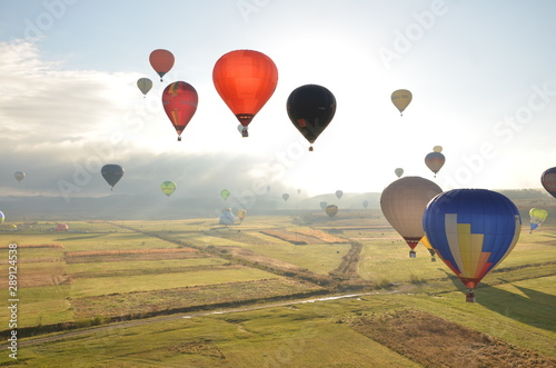 Flying hot air balloons in Romania, Maramures