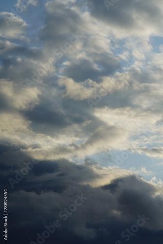 Türaufkleber Darknightsky Clouds covering the sky
