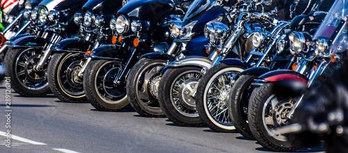 Motorcycle rims in the festival Fotobehang