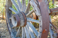 Antique Rustic Wood And Metal ...