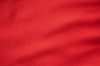 canvas print picture - Red sports clothing fabric football jersey texture close up