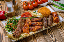 Assorted Kebabs With Bulgur An...