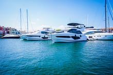 Boats On A Marina