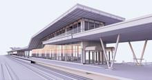 Conceptual Visualization Of A Passenger Railway Platform In A Modern Design