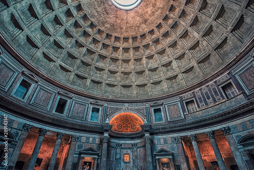 Inside the famous Pantheon in Rome Wallpaper Mural