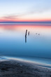 canvas print picture sunset, beautiful coast, boat station and starry sky, concept. background. copy space. Top view