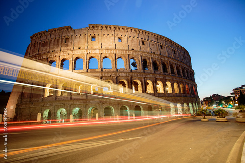 The Colosseum at night. Rome fantastic city, a historical monument © Claudio Quacquarelli