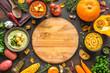 Leinwanddruck Bild - Autumn soups set