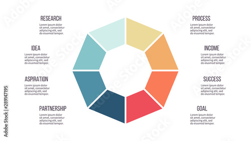 Fotomural Business infographics