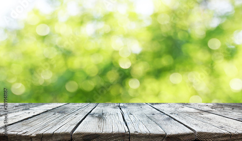Empty old wooden table background - 289148187