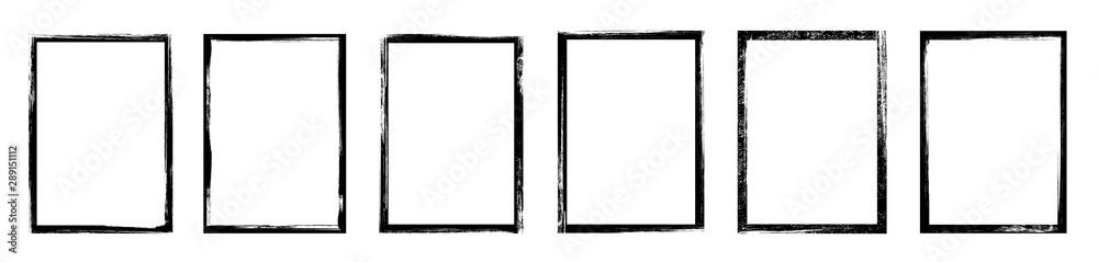 Fototapety, obrazy: Grunge frame - stock vector.