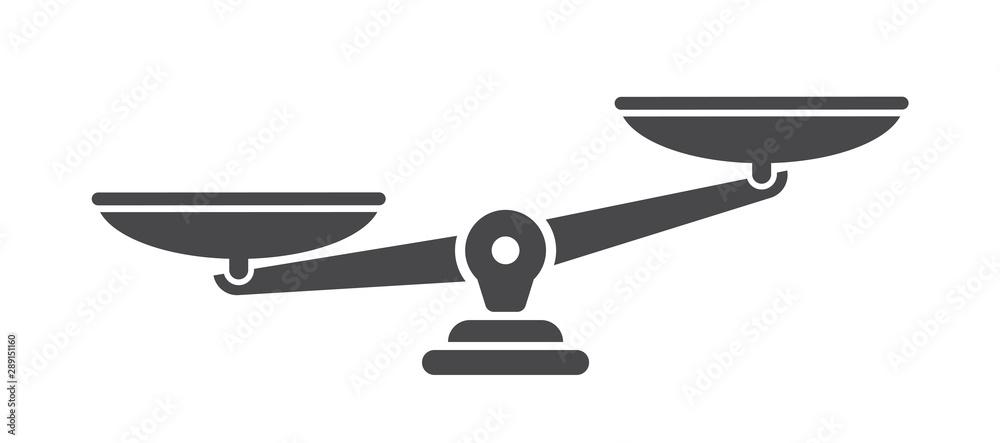 Fototapeta Scales. Libra icon. Flat style - stock vector.