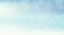 Llight Blue Simple Pattern Textured By Transparent Triangles. Vector Background