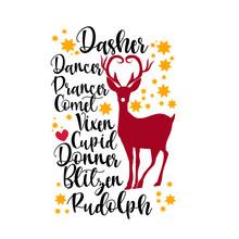 Christmas Reindeer Names