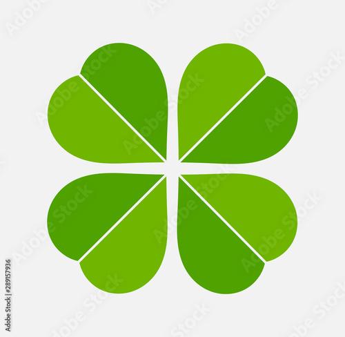 Fotografía  Four leaf green clover icon.